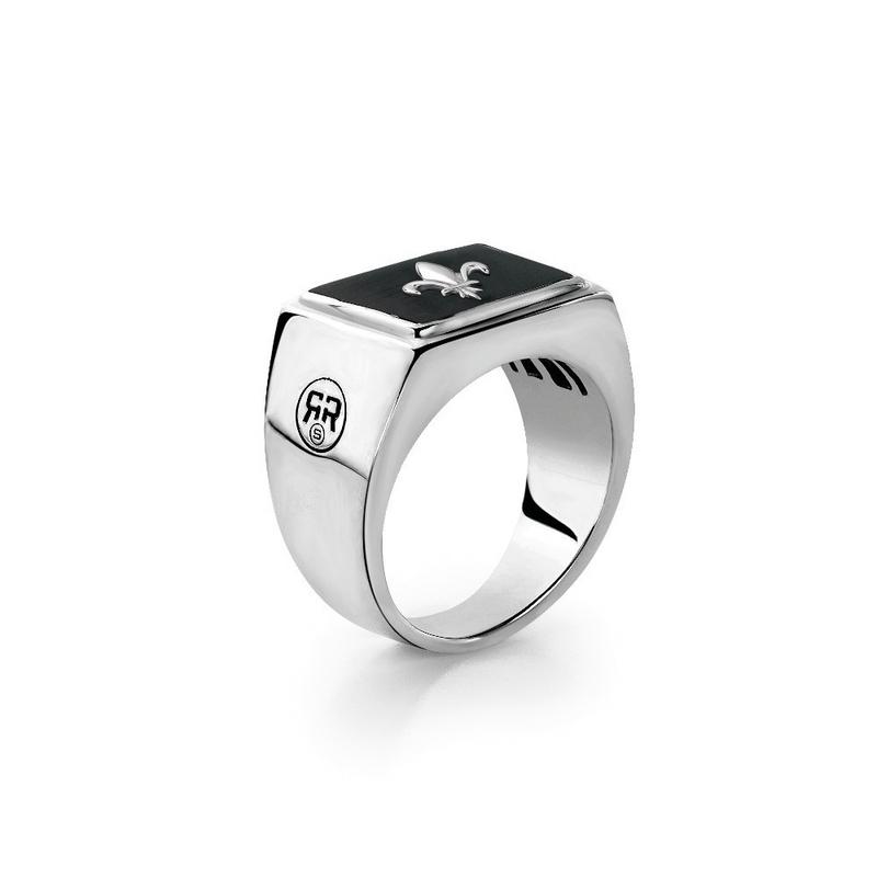 Rebel & Rose Zegel Ring Fleur de Lis 21mm