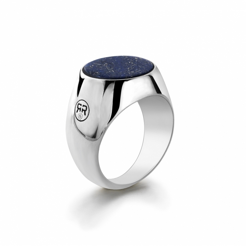 Rebel & Rose Zegel Ring Lapis Lazuli Round 20mm